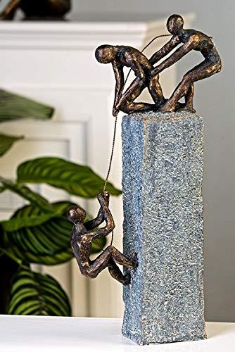 Escultura 'assistance', artificial, Antik-gris Base color bronce Figuras, H 43 cm, B 18 cm