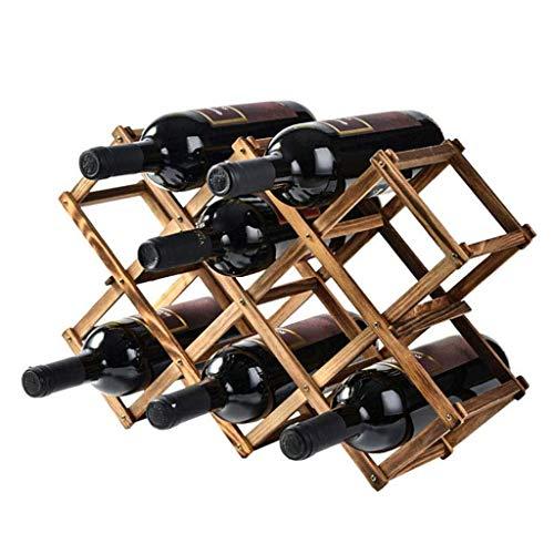 WYB Porte bouteille Casier à vin en bois massif Décoration en bois de pin Etagère créative Protection de l'environnement Casier à vin en bois Grande décoration Maison Présentoir Cadre 10 bouteilles Ét