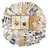 BETESSIN 90 Stücke Scrapbooking Sticker Vintage Journal Sticker Washi Scrapbooking Aufkleber Kreative Deko Aufkleber für Tagebuch Kalender Notizbuch Fotoalbum DIY Handwerk