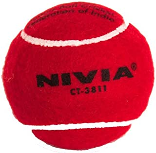 Nivia Heavy Tennis Ball Cricket Ball (Pack of 12)