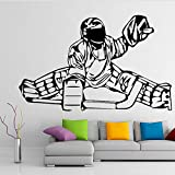 TYLPK Menschlichen schlitten kunst wandaufkleber für baby wohnzimmer schlafzimmer dekoration selbstklebende tapete wandkunst wandaufkleber braun 30x50 cm