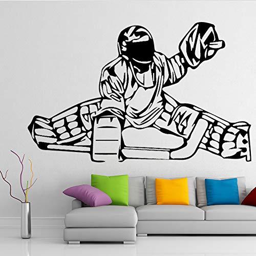 TYLPK Menschlichen schlitten kunst wandaufkleber für baby wohnzimmer schlafzimmer dekoration selbstklebende tapete wandkunst wandaufkleber blau 43x71 cm
