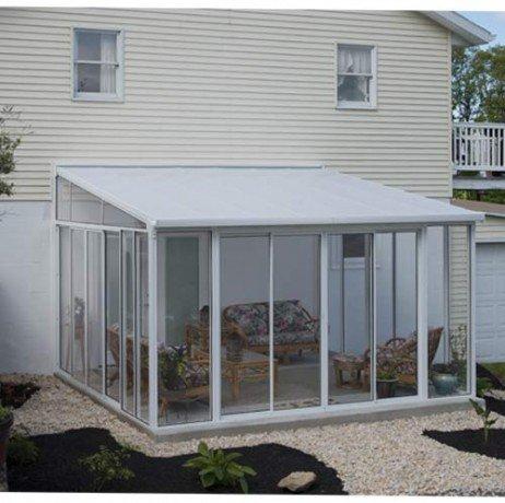 Véranda San Remo 16,23 m² blanche - longueur : 4m25