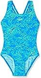 Speedo Mädchen Badeanzug Boom Allover Splashback, Brilliant Blu/Bright, 30 (DE 152), 810843