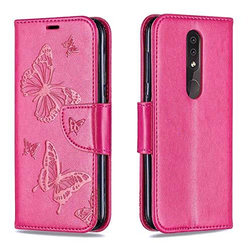 """EUDTH Nokia 4.2 Hülle,Handytaschen PU Leder Tasche Flip Case Brieftasche Handyhülle für Nokia 4.2 5.71\"""" Handyschalen mit Kartenfächern und Ständer Etui Handy Cover -Rosa"""
