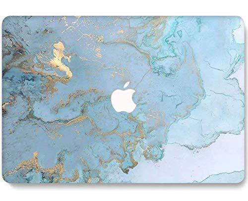 RQTX Funda para portátil MacBook Pro 2020 de 13 Pulgadas (versión 2020), Carcasa rígida Mate 3D Modelo A2251 A2338 M1 A2289 Touch Bar - DL41 mármol Azul