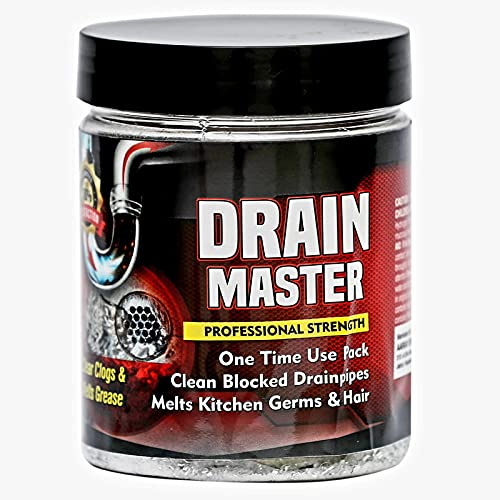 DRAIN MASTER Block Remover   Drain Opener   Drain Cleaner, Drainage Cleaner? Wash Basin cleaning powder All Pipe Safe Cleaner Drainex Powder Clear Clogged Sinks,& Pipes- 400gm - Pack of 1