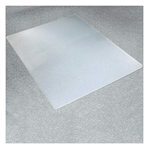 "Marvelux Polypropylene Chair Mat for Low Pile Carpets and Carpet Tiles (up to 1/4"" Thick), 29"" x 46"" White Office Carpet Protector, Rectangular, Eco-Friendly, Shipped Flat"