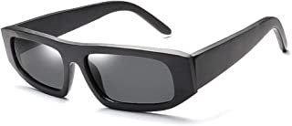 SGJFZD Cycling Driving Men's Box Sunglasses UV400 UV Protective Sunglasses Fashionable Sunglasses (Color : Gray)