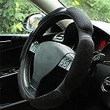 Rayauto Steering Wheel Cover -Odorless, Cooler Hands in Summer, Warmer Hands in Winter (Black)