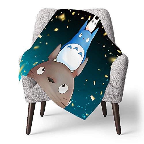 IUBBKI Manta de forro polar personalizada para niños, Design My Neighbors Totoro, manta súper suave para bebé para cuna, cama, sofá, silla, sala de estar