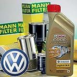 Kit tagliando olio motore 5lt Castrol EDGE Professional L 03 5W-30 +Filtri Mann Golf V (1K1, 1K5, AJ5, 5M1, 521)1.4 TSI