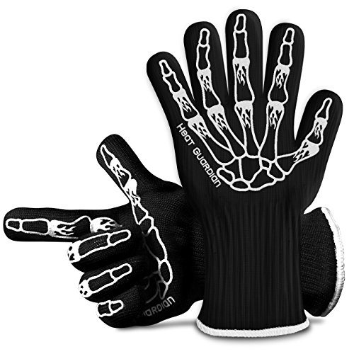 Heat Guardian Heat Resistant Gloves – Protective Gloves Withstand Heat Up To 932℉ – Use As Oven Mitts, Pot Holders,...