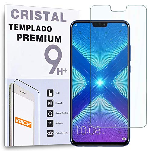 REY - Protector de Pantalla para Huawei Honor 8X, Cristal Vidrio Templado Premium