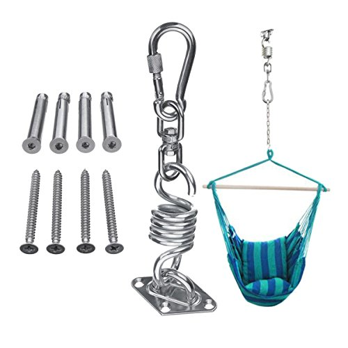 ZHANGNING Hammock with mosquito net Stainless Steel Hammock Chair Suspension Kit Ceiling Mount Rotating Spring Hook Accessories Camping aerial hammock