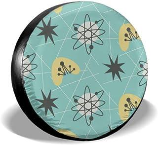 LYMT Mid Century Modern Seamless Pattern 1950 S Apare Cubierta de neumático Fun Cubierta de neumático Cubierta de neumátic...