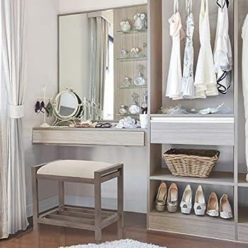 Hillsdale Furniture Amelia Vanity Stool Antique Gray