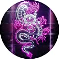 """ADVPRO Chinese Dragon Room Display Dual Color LED Neon Sign White & Purple 12"""" x 16"""" st6s34-i3225-wp"""