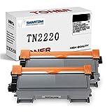 SMARTOMI TN2220 TN2010 Compatible pour Brother TN-2220 TN-2010 Cartouches de Toner pour Brother MFC-7360N DCP-7055 HL-2130 MFC-7460DN HL-2240 HL-2240D HL-2250DN FAX-2840 FAX-2940 (2 Noir)