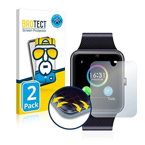 brotect Pellicola Copertura Completa Compatibile con Yamay Bluetooth Smartwatch SW016 (2 Pezzi) Full-Cover 3D Curvo