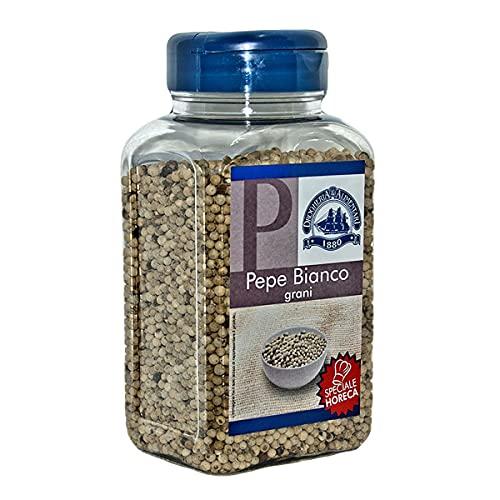 Pepe Bianco in Grani - 450 g - Senza Additivi - Confezione Salva Freschezza e Aroma - Gusto Delicato Indicato Condimento di Pesce, Sottaceti, Marinate e Base per Salse