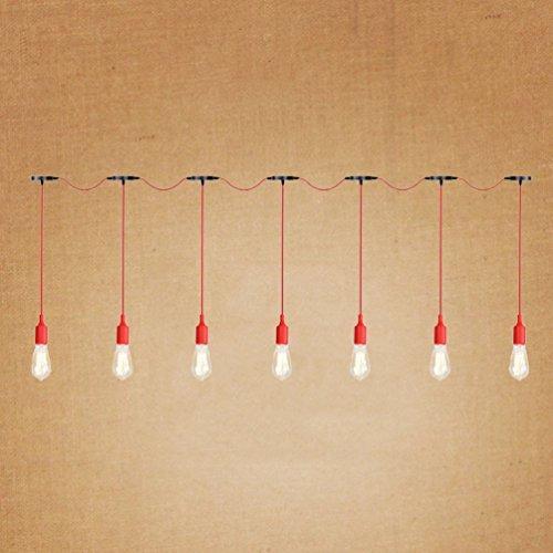 Chandelier rode siliconen lamp, restaurant-meervoudige kop-lamp-creatieve slaapkamer-woonkamer-decoratieve lamp-staaf-project-kandelaar E27