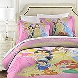 Disney Princess gesteppte Tagesdecke, 3-teilig, Baumwolle, Patchwork-Bettdecke, Super-King-Size-Bett, weich, 177 x 218 cm mit 2 Kissenbezügen 50 x 75 cm