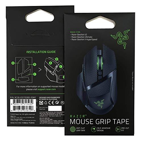 Razer Mouse Grip Tape - for Razer Basilisk Ultimate/Basilisk V2/Basilisk X Hyperspeed: Anti-Slip Grip Tape - Self-Adhesive Design - Pre-Cut
