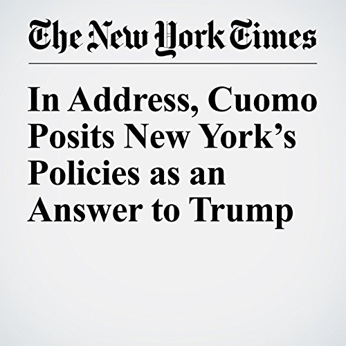 In Address, Cuomo Posits New York's Policies as an Answer to Trump copertina