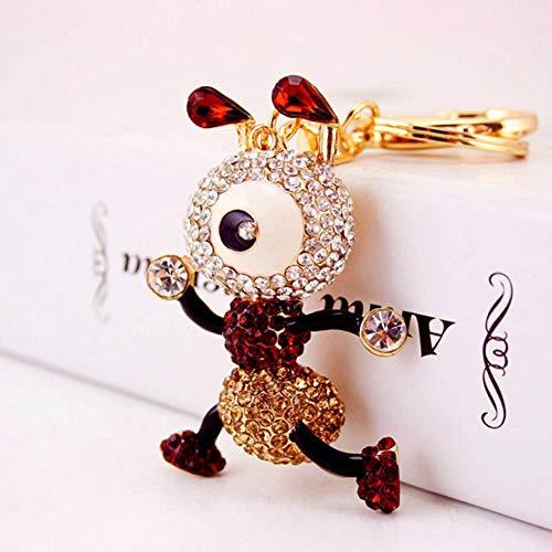 Ou lida Niedliche Karikatur Diamant-Set große Augen Ameise Schlüsselbund Insekt Schlüsselanhängerin weibliche Tasche Zubehör Metall Anhänger Kaffee
