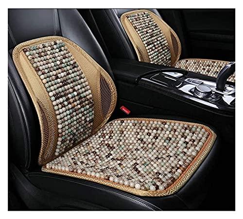 2pcs Ventilación de verano Respaldo cómodo transpirable, soporte trasero para sillas de automóviles, enfriamiento transpirable con cuentas  Asiento de coche cubierta ( Color : A , Size : 2PCS )