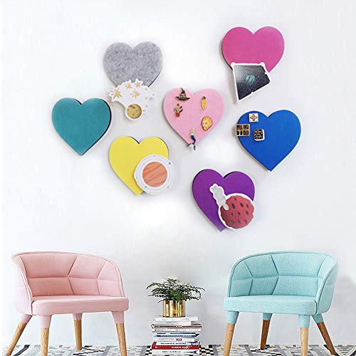 Set van vilt kurk Board tegels, muur Bulletin Board Hexagon Square Circle Pin Board w/zelfklevend om foto's Memos Display Board Pads Afbeeldingen Tekenen Doelpunten Opmerkingen Kleurrijke schuim muur Decoratieve