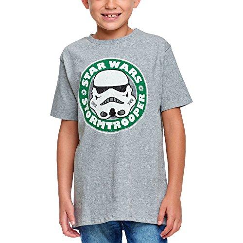 Star Wars Jungen Bostts009 T-Shirt, Gris, 140