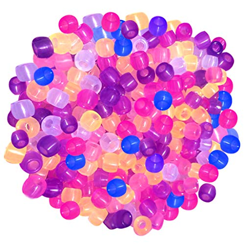 UV Beads, Jerbro 1000pcs UV Changing Bead Glow in The Dark for Jewelry Bracelets Making with Elastic Thread