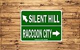 Señal de Aluminio de Silent Hill Raccoon City Divertida autopista – Uso Interior o Exterior/decoración de la Cueva del Hombre/Regalo novedoso se Puede Personalizar