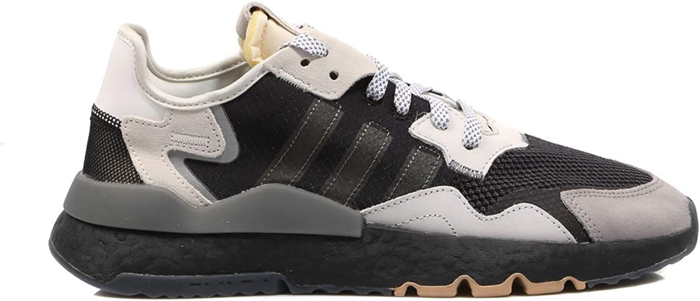Adidas Originals Nite Jogger, core schwarz-Carbon-Footwear Weiß, 7,5