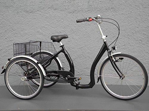Dreirad Klapprad Klappdreirad Transportrad tiefer Einstieg Rücktritt 5G. schwarz