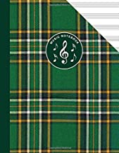 Irish National Tartan Music Manuscript Notebook Celtic Ireland: Blank Sheet Music Paper For Celtic Musician, Orchestra, Band, Fiddle Camp, Session Tunes