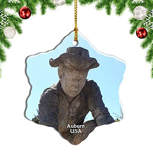 Weekino USA America Auburn Old Town Christmas Ornament Travel Souvenir Tree Hanging Pendant