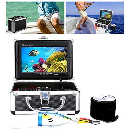 Wosune Cámara de vídeo submarina, cámara de Pesca submarina, 12 LED de 7 Pulgadas, Impermeable, en el Lago, Pesca en el mar, Pesca en Barco, Pesca en el Hielo(Transl)