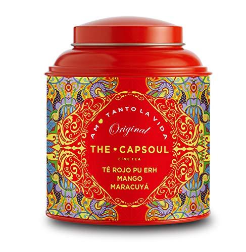 The Capsoul Lattina Té Rosso Pu-Erh Mango & Frutto della Passione Sfuso in Foglia - 1 x 100 Grammi