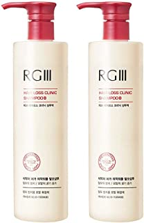 RGIII Red Ginseng Hair Loss Clinic Shampoo 2pcs Set For Mitigating Hair Loss and Nourishing Scalp