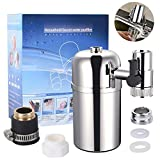 XREXS Faucet Water Filter Purifier System, Water Faucet Filtration System Tap Water Filter with 3 Adapters...
