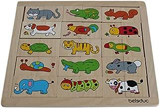 Beleduc Match & Mix Animals Jigsaw Puzzle (30 Piece)