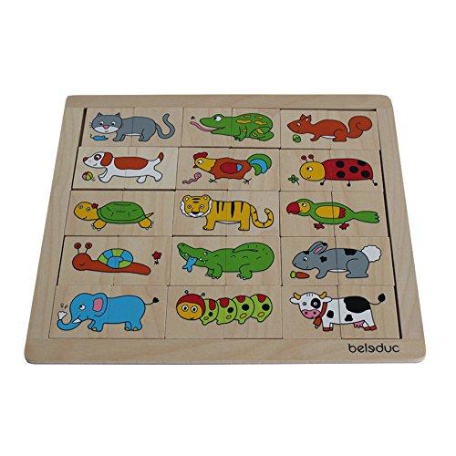 Beleduc 11006 - Match und Mix Tiere, Puzzle
