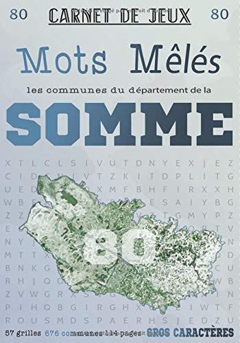 Carnet de Jeux: Mots Mêlés Les Communes de la Somme: Grilles de Mots Cachés pour adultes: Communes du Département de la Somme (GROS CARACTERES) (Mots Mêlés Départements français, Band 80)