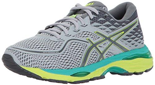 ASICS Women's Gel-Cumulus 19 Running Shoe, Mid Grey/Carbon/Safety Yellow, 6.5 Medium US