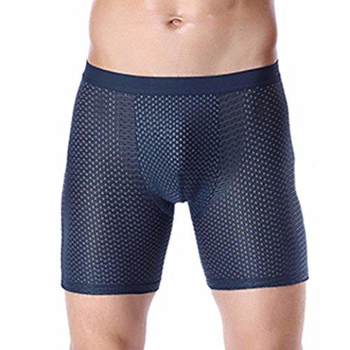 Vovotrade Uuderwear herenshorts, sexy ondergoed voor mannen ijsdraad ogen sexy ademende boxershorts hardlopen anti-dragen broeken shorts uitdeuken zak modal onderbroek