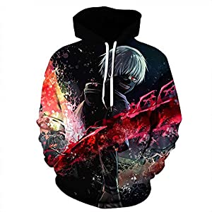 CORIRESHA Naruto 3D Digital Print Japanese Anime Hoodie Sweatshirt