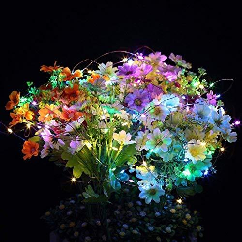 Danatzz Lichterkette - 30m 300Led Solarbetriebene Kupferdraht-Lichterkette im Freien Fairy Party Decor für Garten Weihnachten Hochzeiten gute wasserdichte Leistung (Multicolor, 30 Meter 300 Lichter)